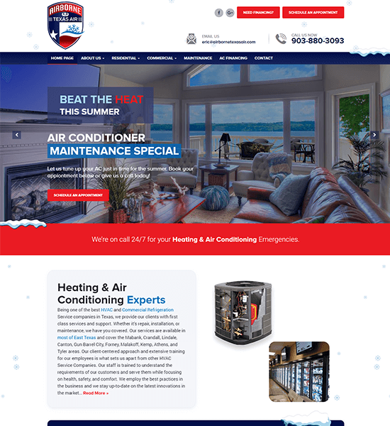 AC & Heating Website Design
