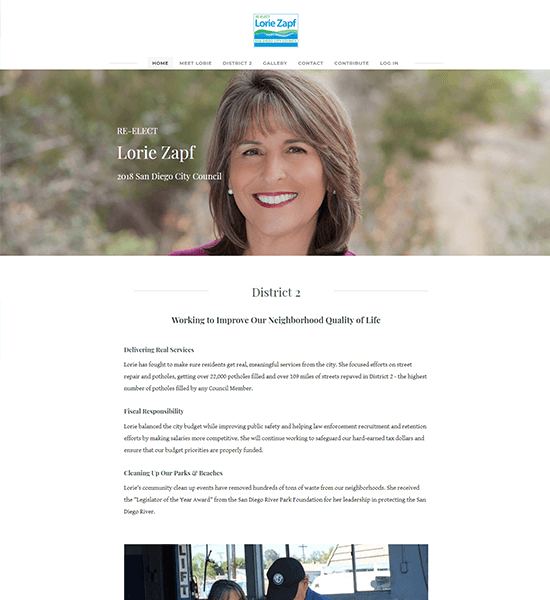 Political Campaign Website Design